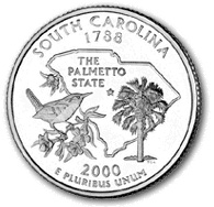 South Carolina Quarter Dollar